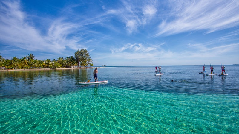 A SUP trip with Island Expeditions in Belize.