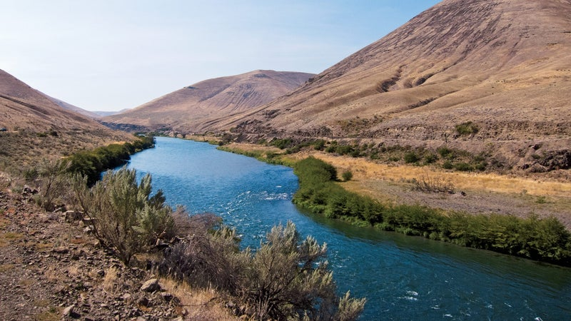 """A sunny day on the Deschutes River in Maupin, Oregon. """"This is the greatest river in America,"""" Joe said. """"It's the only one I know of that's both a great steelhead river and a blue-ribbon trout stream."""