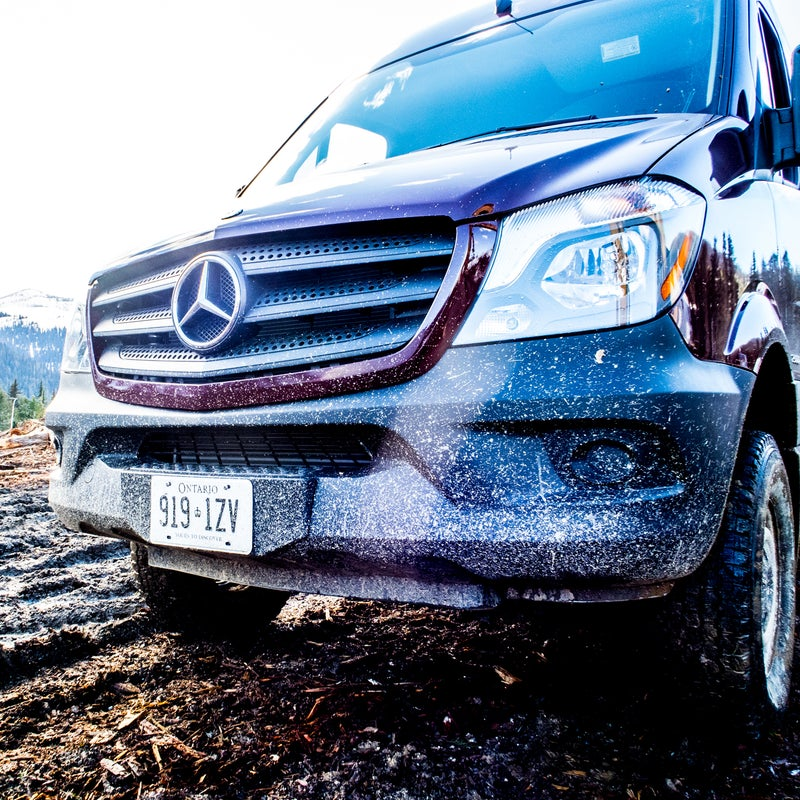 Auto-dimming high beams are an option on the Sprinter, as are very bright bi-xenon headlamps.