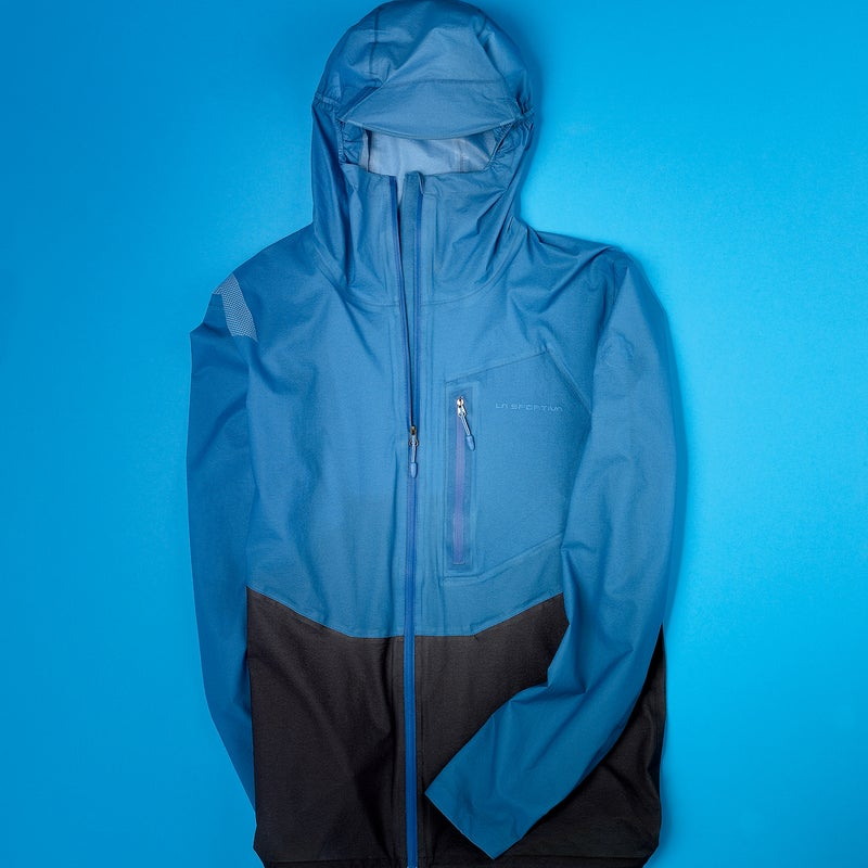 Because they're portable and waterproof enough to keep you comfortable in a downpour, ultralight hard shells like the six-plus-ounce Hail are the hot new jacket category. The reason we liked the Hail best? Read the full Gear of the Year review. Breathability: 3.5 Weatherproofness: 4