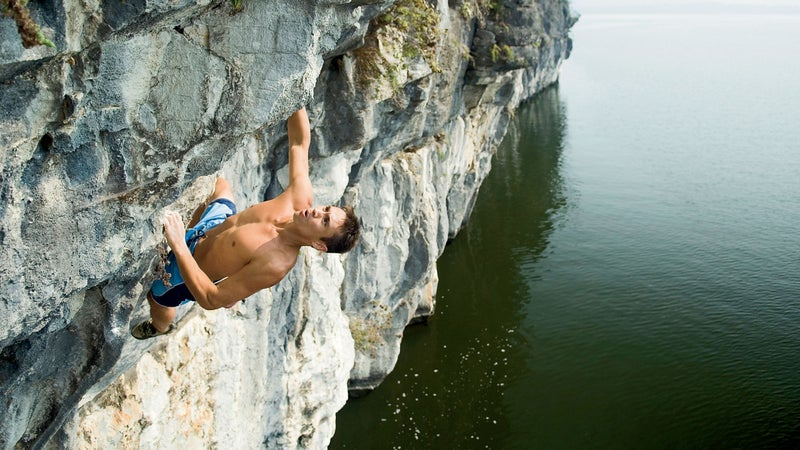 A climber in South Cumberland State Park.