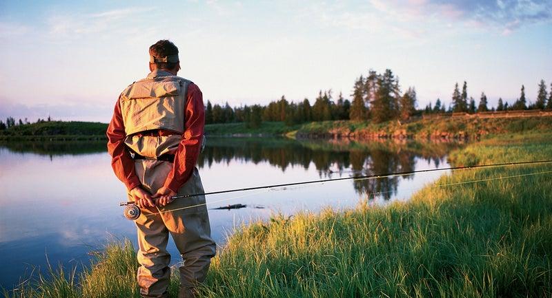 A fisherman on Idaho's Snake River.