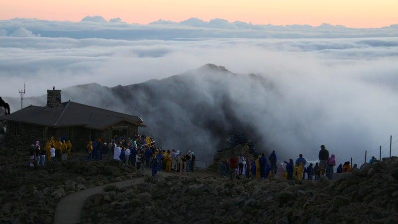 The view over the rim of Haleakala.