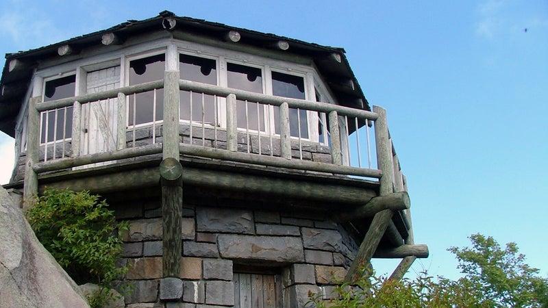 The firetower on Mount Cammerer.