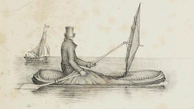 "Concept illustration of a Halkett ""Boat Cloak."""
