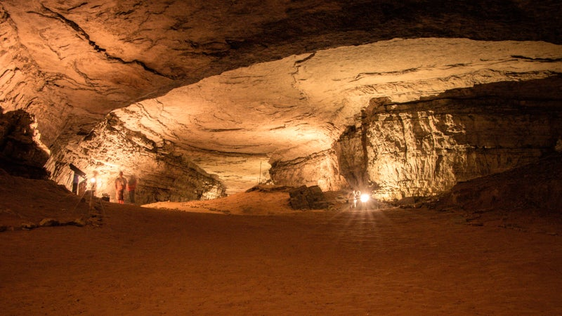 A self-guided tour inside Mammoth Cave.
