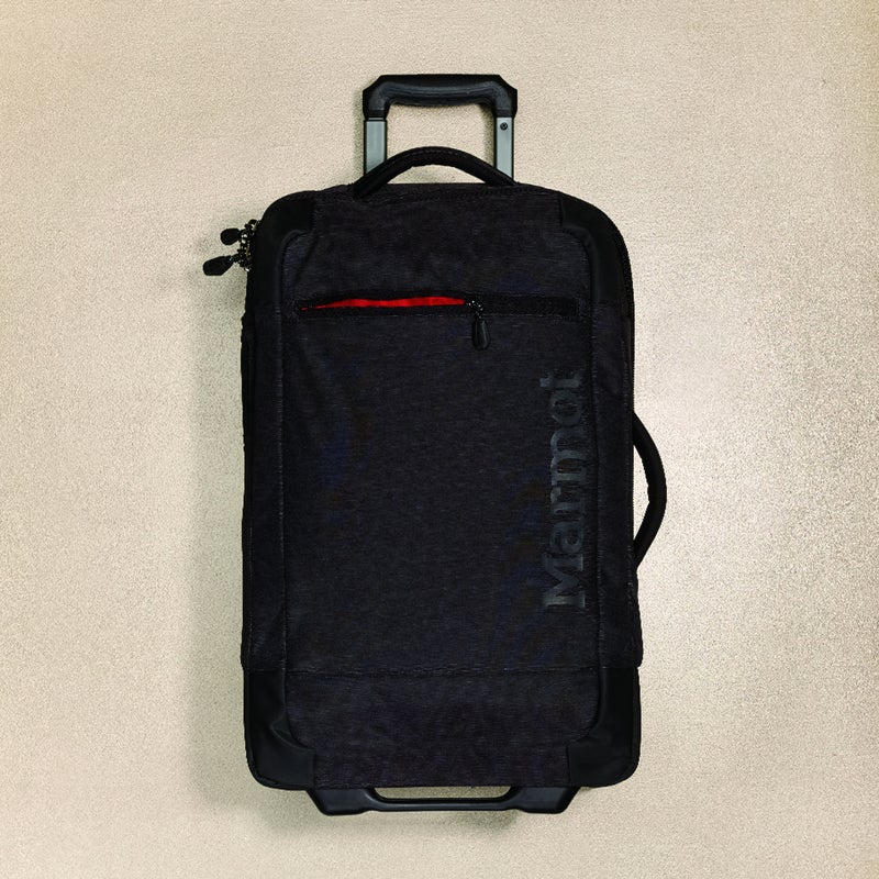 This sharp-looking, 22.5-inch carry-on ($249) does what so many small bags fail to do: maximize space. Credit the inner zip compartments and tiedown panels that put everything in its place. The 40-liter, nylonouter bag, with Hypalon reinforcements on the corners, shows restraint by including only one outer pocket. marmot.com