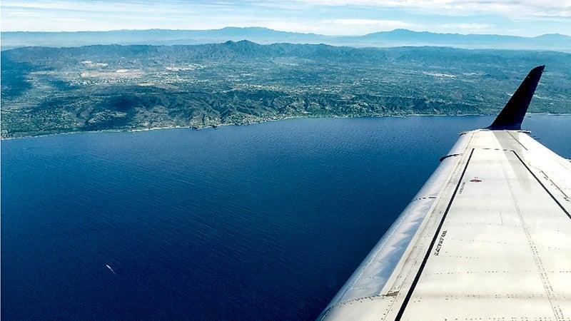 Flying into Puebla.