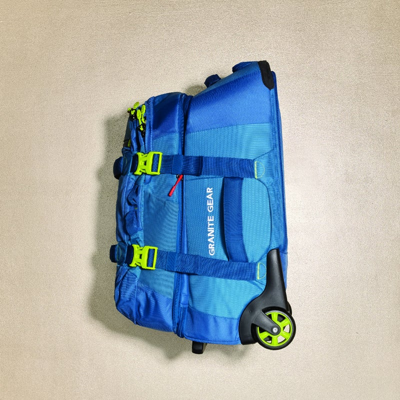 A carry-on with a detachable pack may sound gimmicky, but with integration this seamless it makes perfect sense. The 28-liter daypack ($180), with its load-absorbing foam straps, unzips so you can pull the main bag—or unfurl the shoulder straps and hipbelt to make it a second, 46 liter backpack. granitegear.com