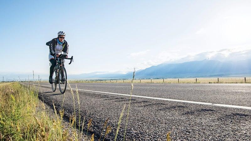 Rolling through southern Montana during the 2014 TransAmerica bike race.