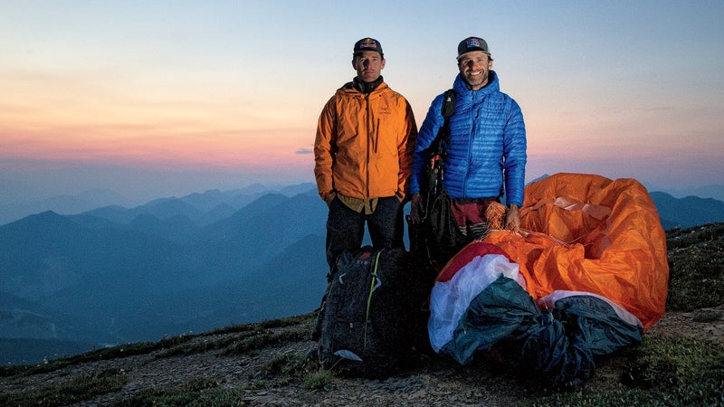 Gadd (left) and McClurg on Mount Aeneas, near the expedition's end.