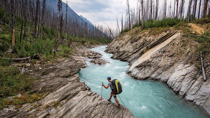 McClurg hiking near Banff National Park.