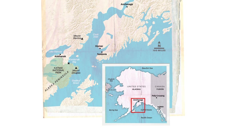 The X marks the spot where Alaskan fisheries biologists encountered François Guenot in May 2014.