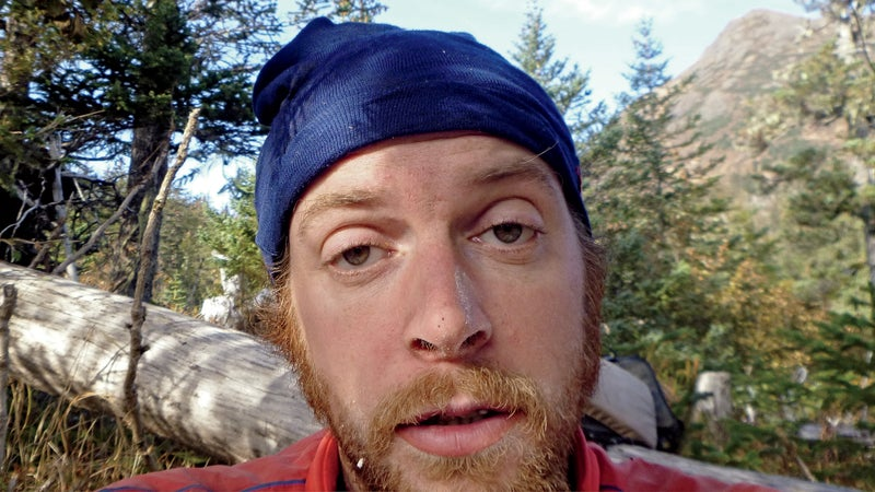 A selfie taken by François during a 2012 pack-rafting trip.
