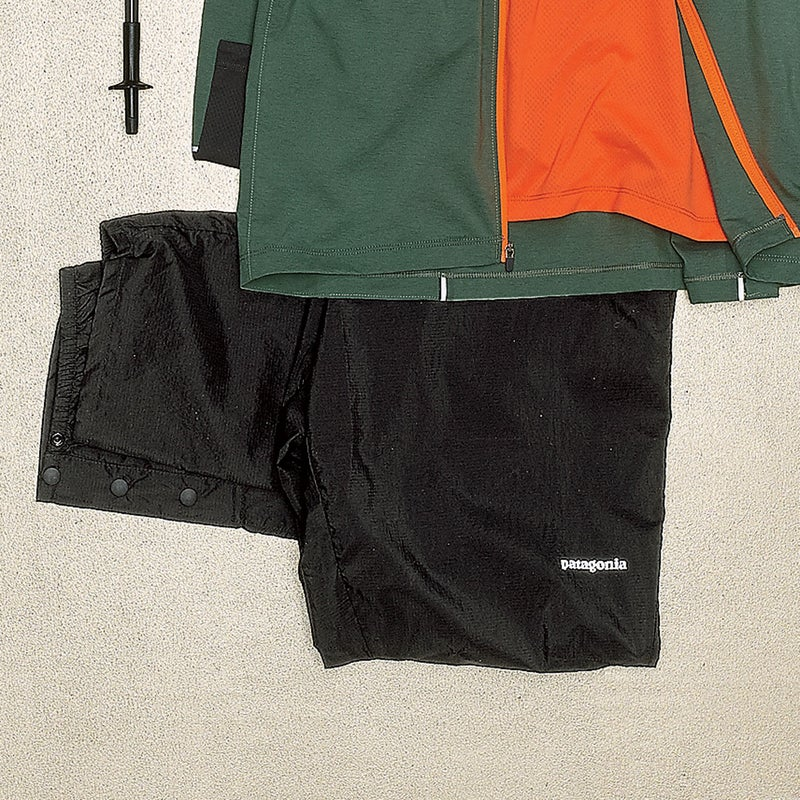 These water-resistant pants ($99) are insurance in case of downpours. Nice: snaps on the ankles for easy on and off. patagonia.com