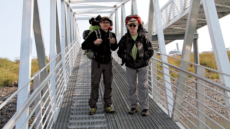 Philippe (left) and Robert Guenot in Alaska last July.