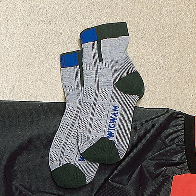You can't save much weight on socks, so go for comfort. The Rebel Fusion ($13) offers an inner liner of lofty olefin and an outer layer of nylon and merino. It wicks sweat and pads your feet for long miles. wigwam.com