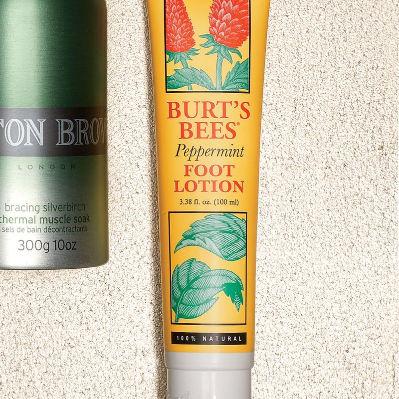 The coconut oil helps soften calluses, while cooling and invigorating menthol does the impossible: it makes rubbing swollen, post-workout feet a pleasant olfactory experience. $9, burtsbees.com