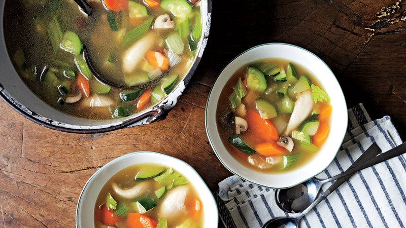 Sally Fitzgibbons's chicken and veggie soup.