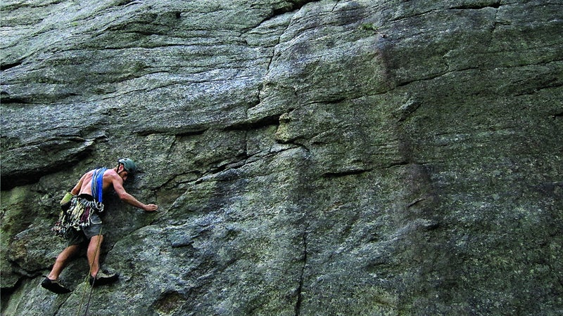 Climbing the Gunks outside New Paltz.