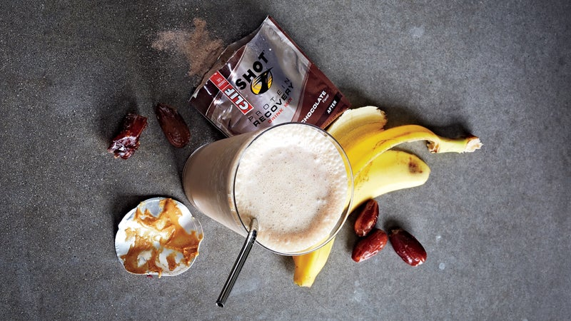 Todd Wells's peanut butter and banana protein shake.