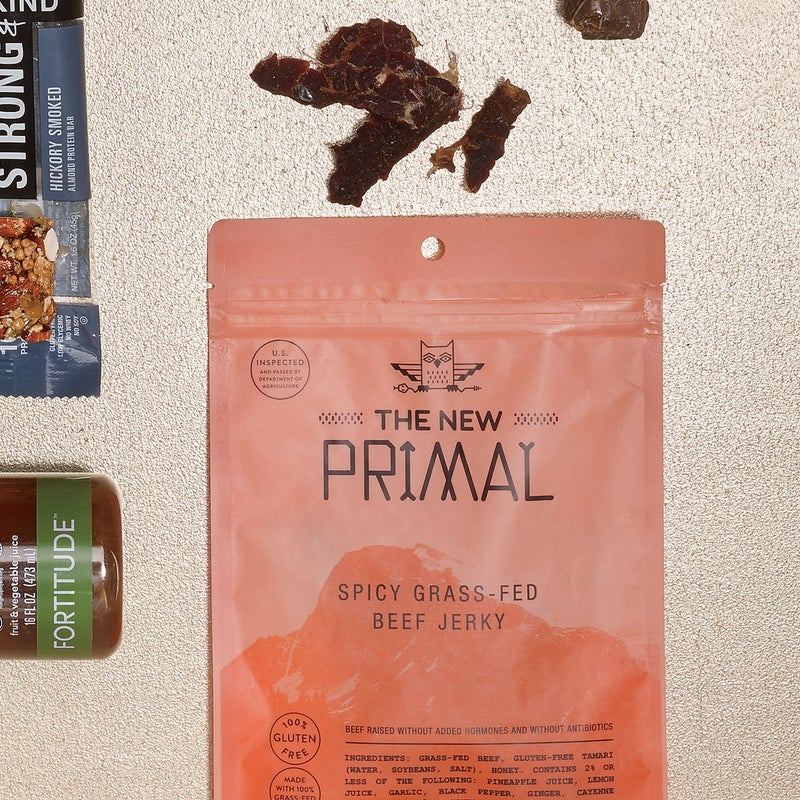 Good enough for Polar explorers and the ancient Incans, jerky is the original stuff-it-in-your-pack adventure food. The New Primal uses hormone- and antiobiotic-free grass-fed beef, and with 2.5 grams of fat—and 10 grams of protein—in each serving, it's some of the leanest, most power-packed dried meat you'll find. $7.50, thenewprimal.com