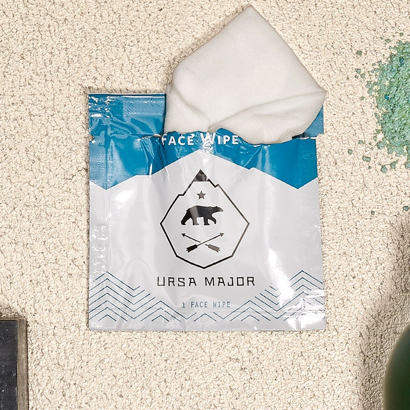 Using a blend of aloe, witch hazel, willow-bark extract, birch sap, and bamboo, these single-use wipes ($24 for 20) moisturize your skin while exfoliating and cleansing, so you won't feel dried out. ursamajorvt.com