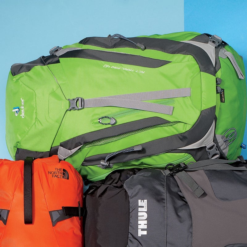 """Best For: Overnight sorties.The Test: The Trail Pro ($169) just feels right. The anatomical shoulder straps and mesh back panel fit nearly every tester perfectly, and it was practically unfazed by heavy loads. """"It seemed to bring the weight down to my center of gravity,"""" said one tester. Deuter's trademark ventilation channel, which runs along the middle of the back panel, helps keep you cool, and there are attachments for everything, including an optional helmet holder. And while it looks stripped down, there are wet and dry storage compartments inside and plenty of exterior pockets.The Verdict: Light, durable, and breathable. 3.4 lbs; deuter.comComfort: 4.5Versatility: 4"""