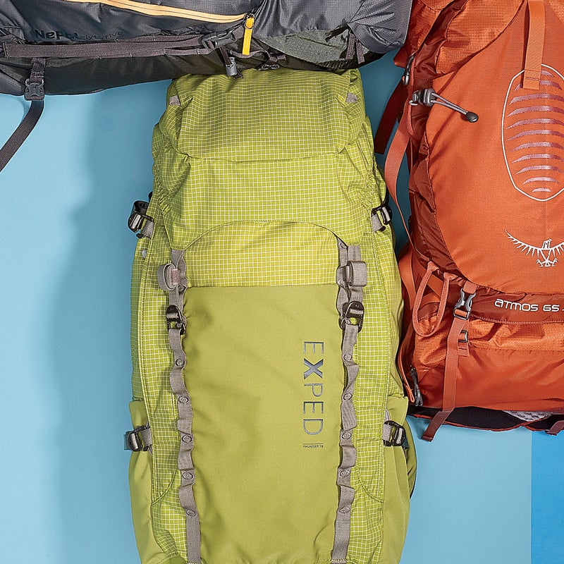 Best For: The weight conscious.The Test: The most stripped-down big pack here, the Thunder ($289) weighs just 3.5 pounds. (Most packs this size weigh at least four.) It's not as cushy as the Osprey or Gregory, but the Thunder's single-aluminum-stay suspension proved adequate, thanks to a quick-and-easy torso adjustment and plush hipbelt. And considering how light it is, the Thunder has an impressive array of features, including tons of pockets (two side, one front, and two hipbelt).The Verdict: The best big ultralight we've seen. If you prize comfort over weight, it's not for you. But the fast-and-light crowd will love it. 3.5 lbs; exped.comComfort: 2.5Versatility: 4