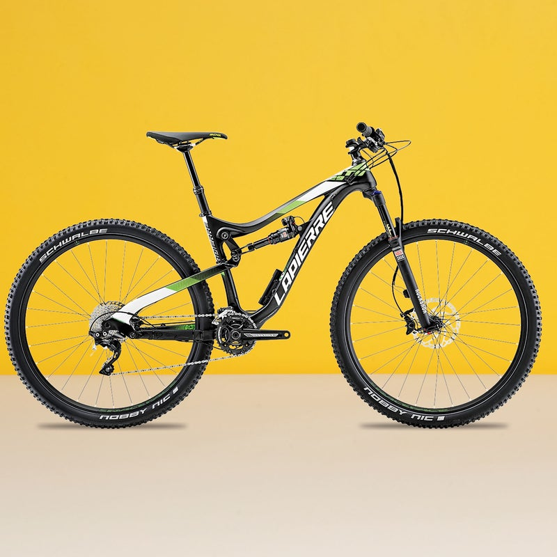 Best For: Technophiles.The Test: Our Zesty Trail ($4,900) came equipped with electronic suspension that automatically made the rear shock softer or stiffer, depending on the terrain. The changes happened so fast (in under a tenth of a second, according to Lapierre) that we didn't even notice them. In fact, there was no need to think about suspension at all, as the bike seamlessly adjusted itself between climbs and descents. Beyond the tech, the Zesty Trail is a five-inch 29er that's confident on just about any trail. Our only issue: at this price, we'd like to see coordinated components (our model had a haphazard mix of Shimano and SRAM) and better wheels, which several testers said were ponderous. The Verdict: The future of suspension design is here, and we love it. 29.5 lbs;lapierrebicycles.comClimbing: 3.5Descending: 4