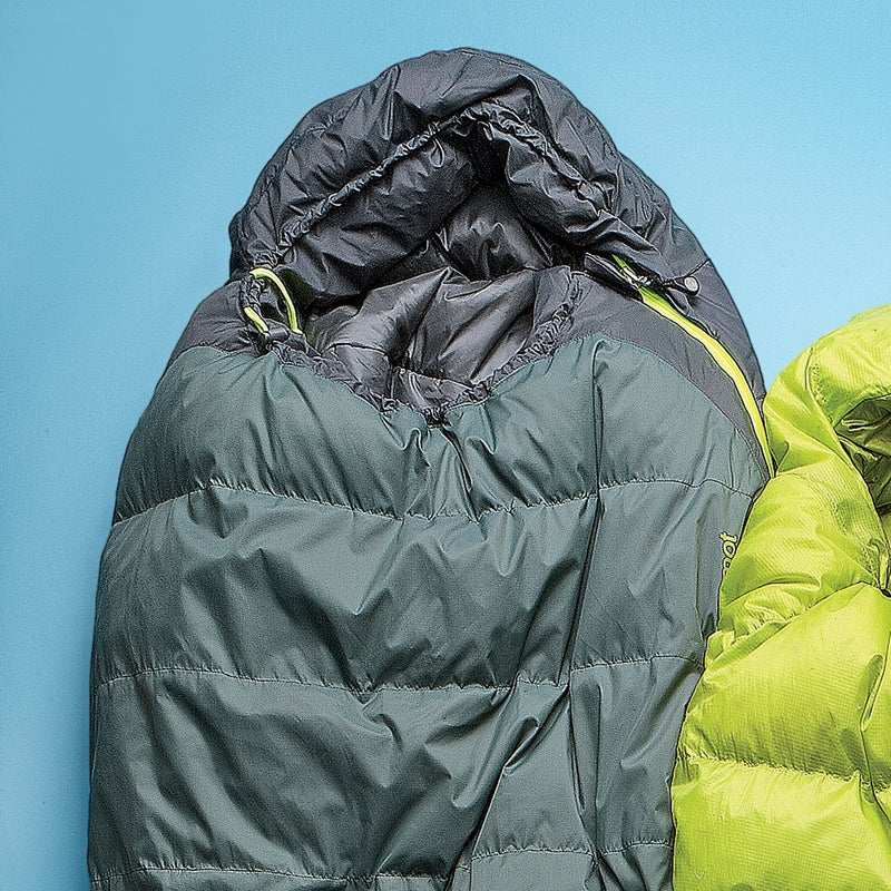 Best For: Efficient warmth.  The Test: The human body doesn't lose heat evenly, so Marmot's designers decided that uniformly insulating a sleeping bag only adds cost and weight. Instead, they used heat-mapping technology to determine where to add insulation (torso and feet). And then, because synthetic fill provides more thermal efficiency than down when compressed, they decided to stuff the Electrum ($159) with synthetic on the back and 650-fill down on the front. Result: the Electrum is toasty and fairly compact, squishing to the size of a cantaloupe. The Verdict: A brilliant bag from top to bottom. 30°; 2.5 lbs; marmot.com Sleep Comfort: 4 Warmth to Weight: 3.5