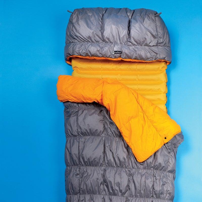 As much as we love a top-shelf mummy bag, it can be annoyingly constrictive and, on summer nights, too hot. That's why we're so smitten with the Tango Solo. Read the full Gear of the Year review. Sleep Comfort: 5  Warmth to Weight: 4.5