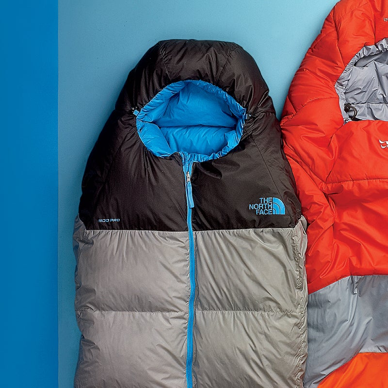 """Best For: Ounce counters. The Test: The name isn't hyperbole—the 15-degree Superlight ($419) weighs less than two pounds and provides nearly four-season warmth. To make the weigh-in, some conveniences had to be nixed: the cut is pretty slim, and there's only a half-length zip, which runs down the front of the bag instead of the side. Testers didn't mind. """"The center zip and snug fit made it feel like clothing,"""" said one. Another was sold by the water-resistant 800-fill down: """"Lofty in 100 percent humidity. It's converted me from synthetic to down."""" The Verdict: Our favorite ultralight down bag. 15°; 1.8 lbs; thenorthface.com Sleep Comfort: 4 Warmth to Weight: 5"""