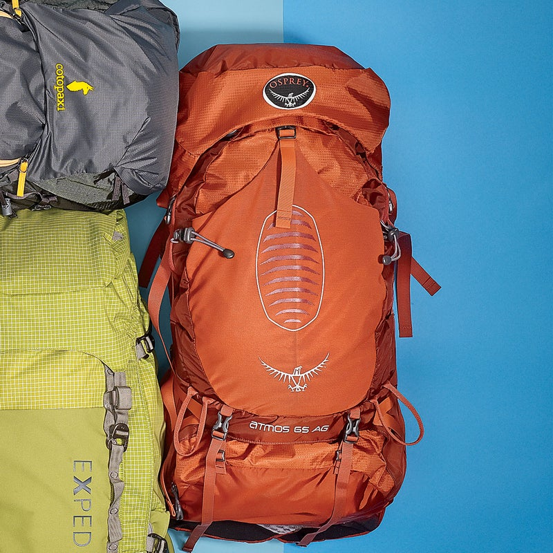 """Best For: Long-haul backpacking.The Test: The """"AG"""" stands for Anti-Gravity, Osprey's term for the Atmos's ($260) swath of torso-conforming mesh that allows airflow while providing balance and support. """"It fits more like a jacket than a pack,"""" said one tester. The unique design creates contact with your entire back (read: no pressure points), which, combined with tons of adjustability in the torso and hipbelt and four compression straps, allows you to stabilize loads both large and small. We stuffed it with 55 pounds of gear for a big, sweaty push on California's John Muir Trail, and it never felt off-balance.The Verdict: Ideal for humping loads in hot weather. 4.4 lbs; ospreypacks.comComfort: 5Versatility: 4"""