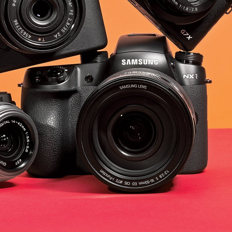 Best For: Fast action. The Test: Like the Sony, the NX1 ($1,499) has a 1/8,000 shutter. Unlike the Sony, it also shoots 4K video and has continuous still-photo autofocus, which tracks and meters, making it ideal for sports and wildlife. At a bit heavier than a pound, the weather-sealed NX1 is no flyweight portable, though this mirrorless camera is still half the weight of a DSLR with similar capabilities. Bonus: it features both Bluetooth and Wi-Fi connectivity. The Verdict: The most impressive sports shooter we tested. $2,800 with 16–50mm lens; samsung.com Utility: 4 Tech: 4
