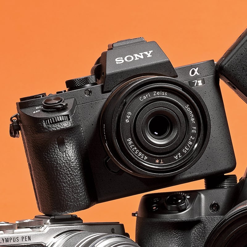 Best For: Channeling Ansel Adams.  The Test: With a ginormous 25-megapixel sensor—at 35.8 by 23.9 millimeters, it's twice the size of the Nikon 1 V3's—the a7 II ($1,700) is all about big, layered images. You can fire away in any light or even no light: at ultrahigh ISO, night shots didn't get grainy. The meaty chassis is loaded with functions, and it's the first mirrorless, full-frame-sensor camera with image stabilization, so any lens gets steadied at low shutter speeds.  The Verdict: No other camera on this side of $4,000 makes outdoor images as rich and detailed. sony.com  Utility: 3 Tech: 5