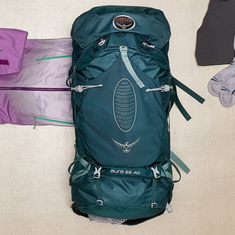 At just over four pounds (admirably light for its 65-liter capacity), the Aura ($260) is ideal for long hauls. Osprey's seamless suspension hugs the body for a better fit. Testers loved the trekking-pole attachment and the mesh pockets along the straps—perfect for stashing snacks. ospreypacks.com
