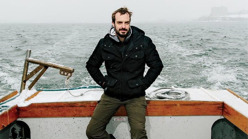 Seafood advocate Barton Seaver on Casco Bay, Maine.