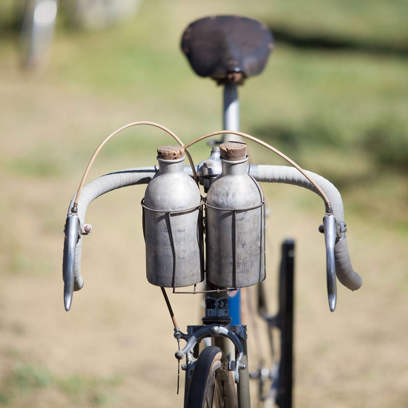 Bonus style points for vintage bidons with corks.