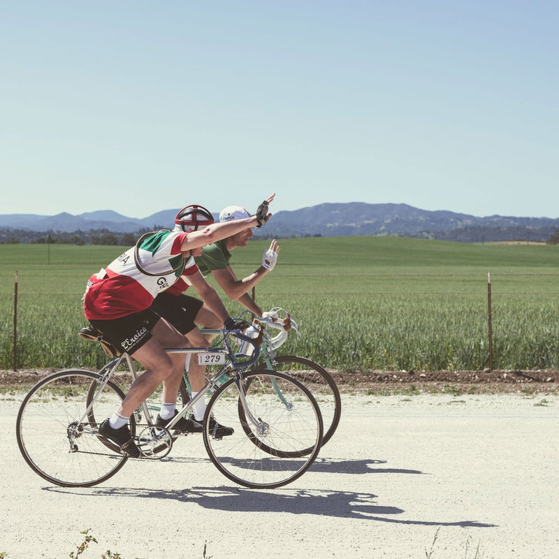 L'Eroica is one of the few bike events where you'll see octogenarians freely mixing it up with twentysomethings.