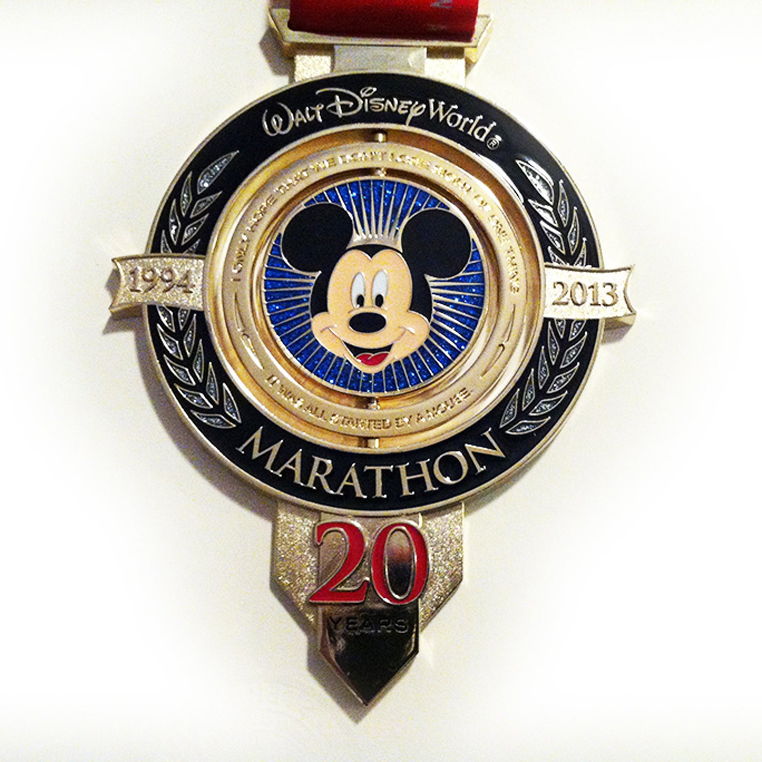 Solera: With these races' exorbitant price tags, you can bet that Disney will invest in top-notch hardware. The 20th anniversary of their biggest running event delivered with a regal, heavy, and incredibly elegant medal. The center spins with Mickey Mouse's modern incarnation on one side and his original Steamboat Willie version on the other.