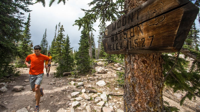 Jason and Andrew Dorais in Utah's Uinta Mountains.