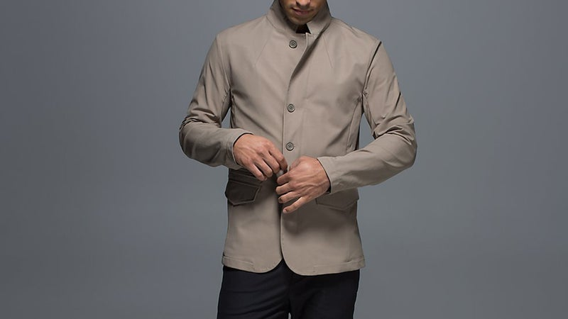 Water- and wind-resistant, and with a debonair look, the Lululemon MWB Jacket is perfect for dressing up dad.
