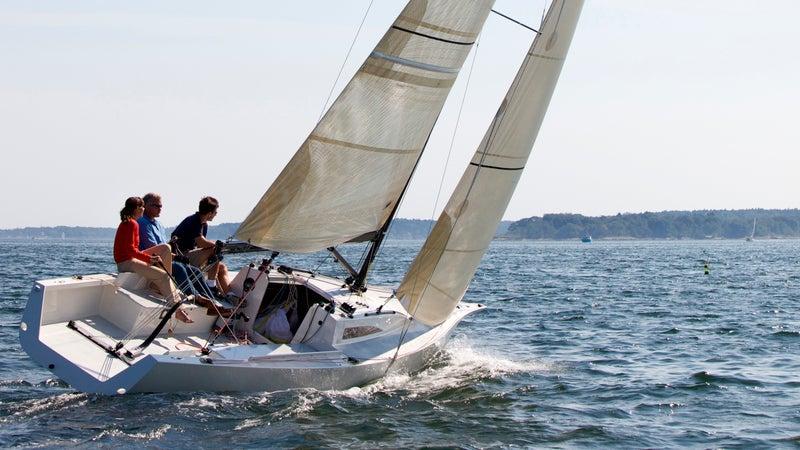 Sailing outside Portland.