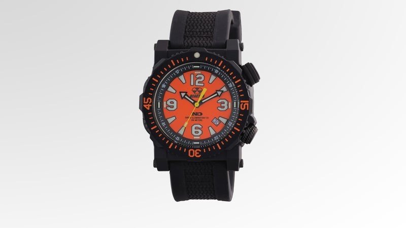 The Reactor Titan wristwatch is durable enough to be shot with a .22.