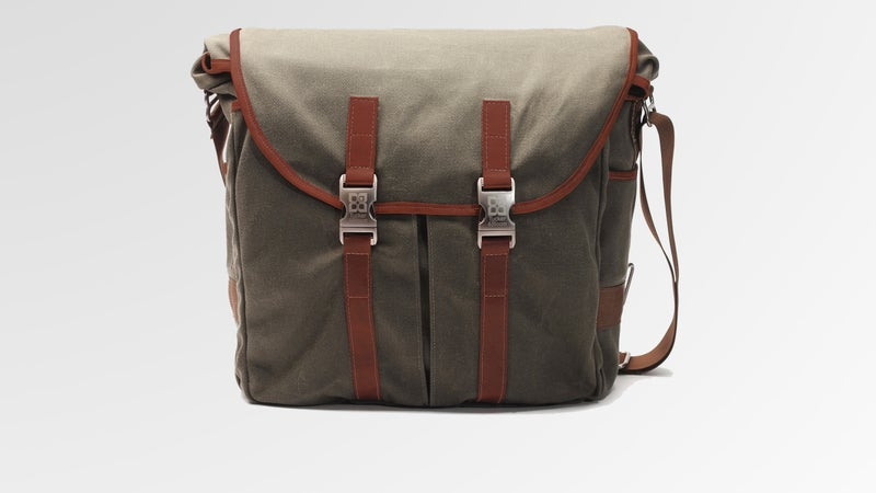 The Tucker & Bloom North to South Messenger Bag is handmade from waxed canvas in Nashville, Tennessee.