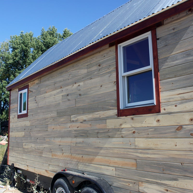 Smith and Mueller chose beetle-kill wood for their siding. The lumber is cheap and plentiful (pine beetles have ravaged hundreds of thousands of acres of Colorado's lodgepole pines) and has a cool blue tinge. Because you're using a trailer as your base, make sure the siding is flush with the back of the wheel wells.