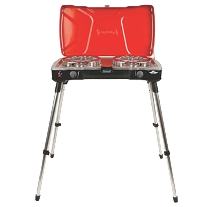 For years, I dropped my tailgate and used it as the prepping and cooking platform for all my truck-based meals. One day, a friend asked me if I was worried about cooking with propane a few feet from my truck's gas tank. The fear that stemmed from that question led me to get the Coleman FyreMajor stove ($190), which has four telescoping legs, so I can set up my kitchen away from the tailgate.