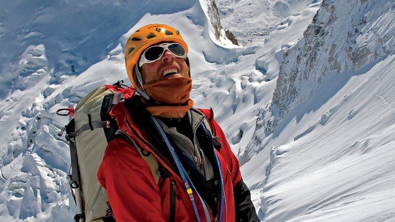 Anker on Meru in 2008, during his second of three attempts.