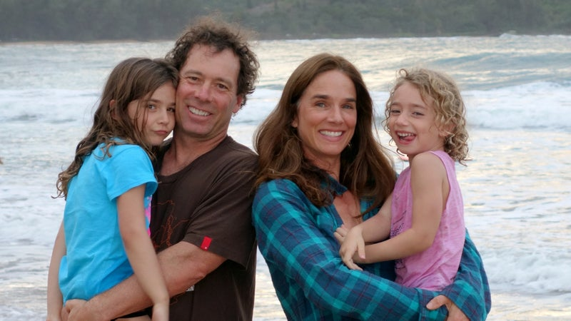 The DesLaureiers family on a beach vacation in 2014.